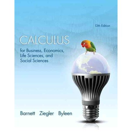 Calculus for Business, Economics, Life Sciences and Social Sciences by