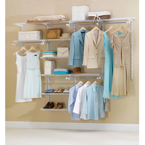 Rubbermaid Home Prod Dorfile FG3H8900WHT 4' to 8' Deluxe Closet Kit, White