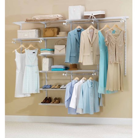 Rubbermaid Configurations Closet Kits, 4'-8', Deluxe, White ()