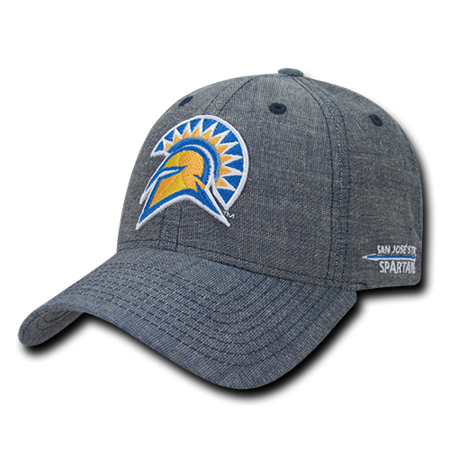 Louisiana State University Baseball (NCAA SJSU San Jose State University Spartans Structured Denim Baseball Caps Hats)