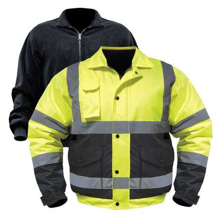 OLD TOLEDO BRANDS UHV563-XL-YB Jacket with Removable Liner,XL,Yllw/Blk