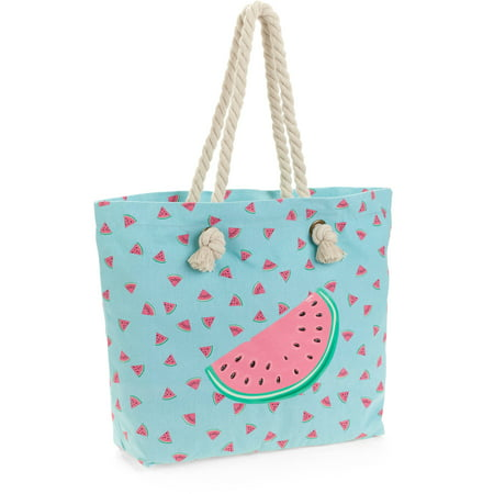 No Boundaries Women's Beach Tote - Walmart.com