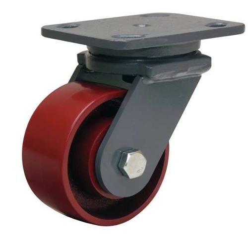 GRAINGER APPROVED Plate Caster,Swivel,Cast Iron,4 in,1000 lb,B, S-WH-4MB