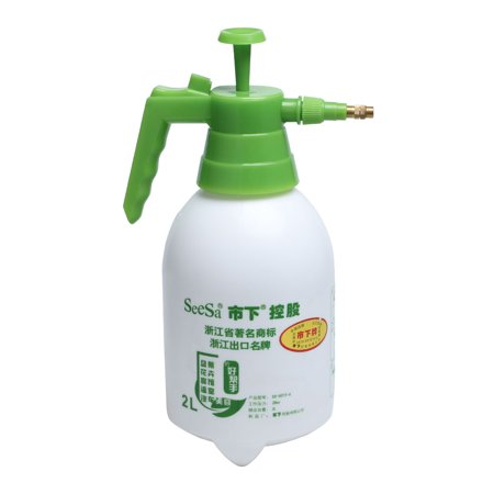 Unique Bargains 2000ML Capacity Green Handle White Body Water Container Plastic Spray Bottle ()