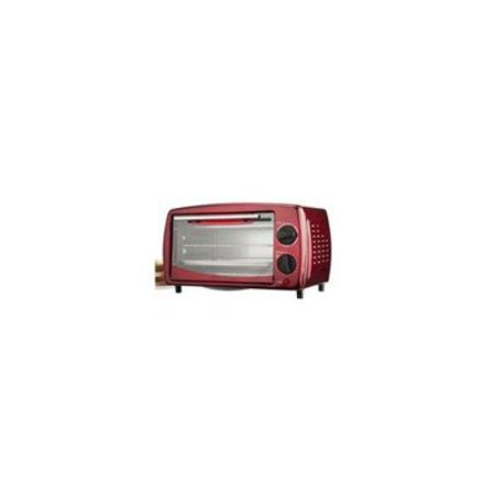 Brentwood [ts-345r] 4 Slice Toaster Oven In Red - 700 W - Toast