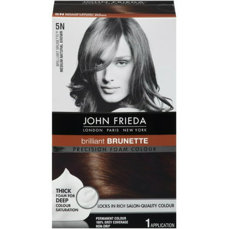 John Frieda Precision Foam Colour Brilliant Brunette (Medium Natural Brown) 5N 1 (Best Foam Hair Color)