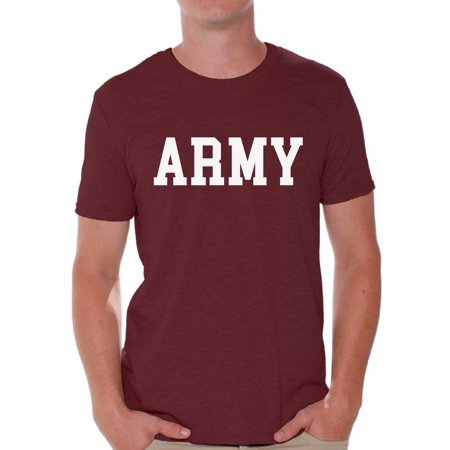 Awkward Styles Men's Army Shirt Military Tshirt Army Gifts for Him Military Training Workout Clothes Army Tshirt for Men](Fir Clothing)