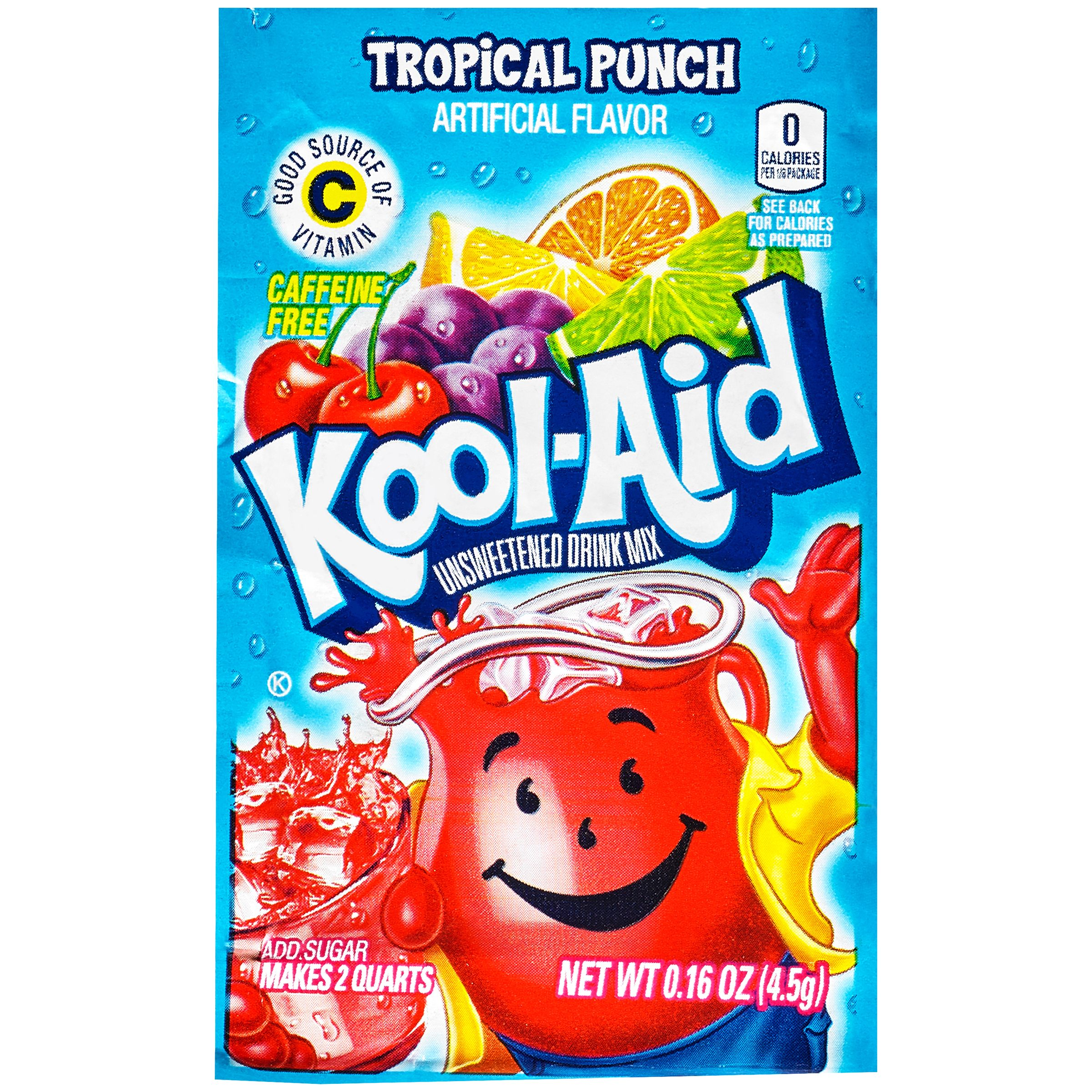 Kool-Aid Tropical Punch Unsweetened Drink Mix 0.16 oz. Packet