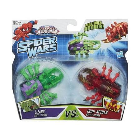 Ultimate Spider-Man Spider Wars Battle Pack: Lizard vs Iron Spider By Hasbro - Spider Man Lizard