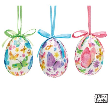 Butterfly Design Easter Egg Ornaments set of 12](Butterfly Eggs For Sale)