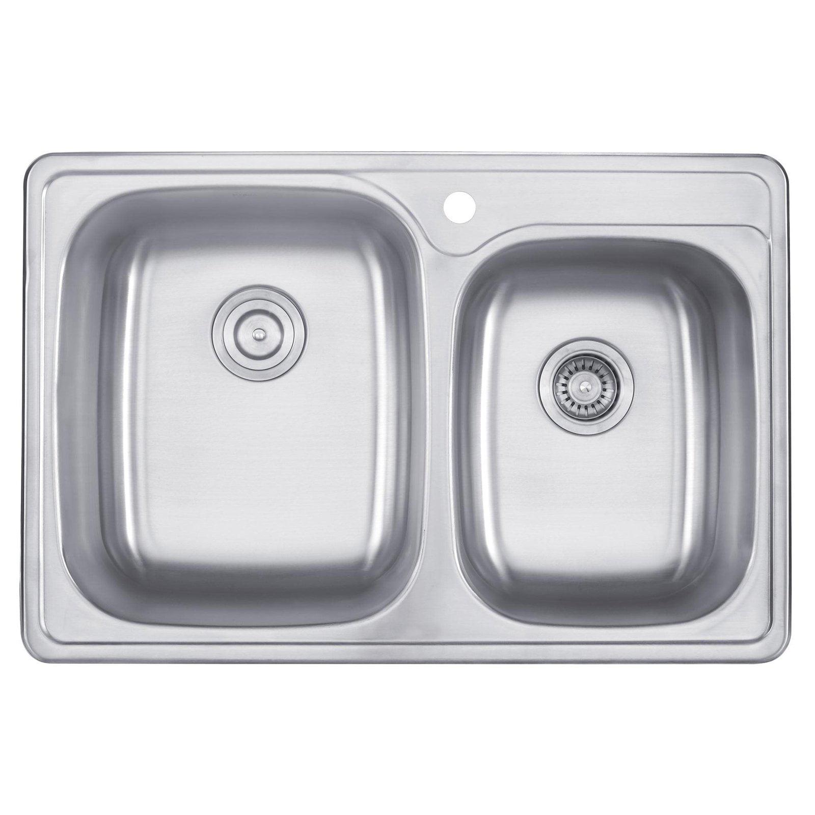 Kraus KTM32 Double Basin Drop In Kitchen Sink