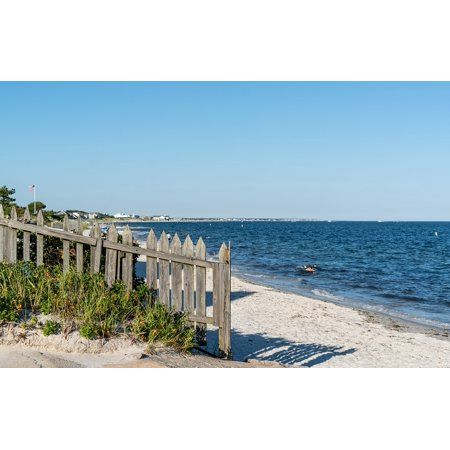 LAMINATED POSTER Sand Cape Cod Beach Yarmouth Massachusetts Fence Poster Print 24 x 36
