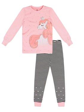 7824f287b Product Image Girls' Unicorn 2 Piece Pajama Sleep Set (Little Girl & Big ...