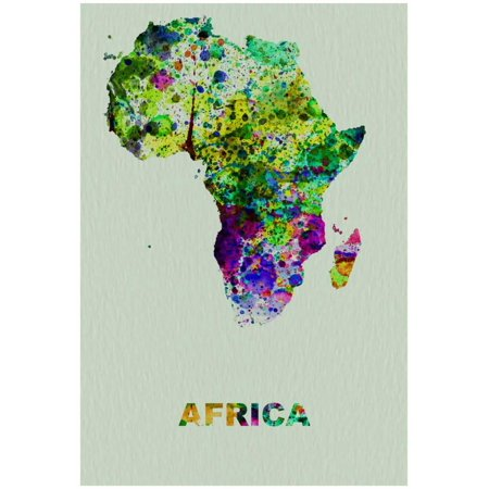 Africa Color Splatter Map Poster By NaxArt - (Map Africa Colour)