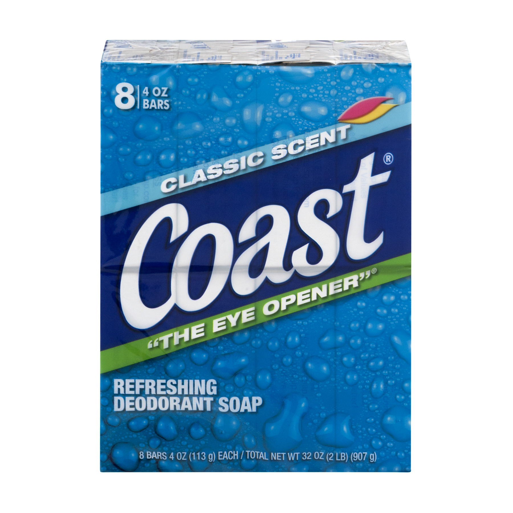 Coast Refreshing Deodorant Soap Classic Scent - 8 CT4.0 OZ