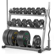 Xmark dumbbell rack olympic plate weight rack with olympic bar