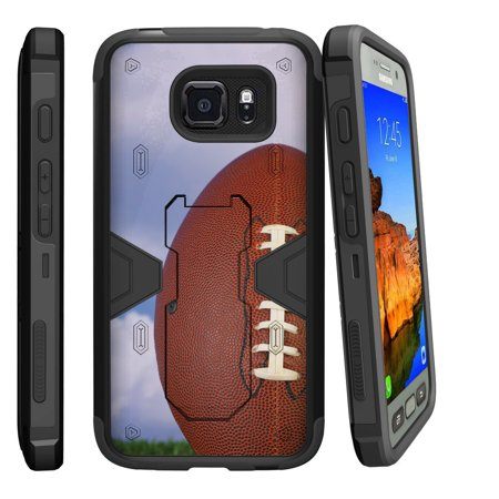 Samsung Galaxy [ S7-ACTIVE model] G891A Dual Layer Shock Resistant MAX DEFENSE Heavy Duty Case with Built In Kickstand - Field