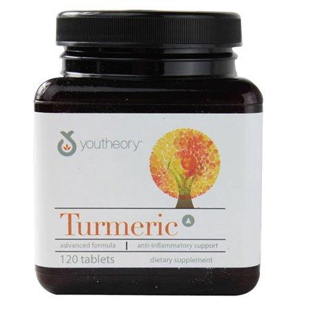 Youtheory Advanced Formula Turmeric Tablets  120 Ct