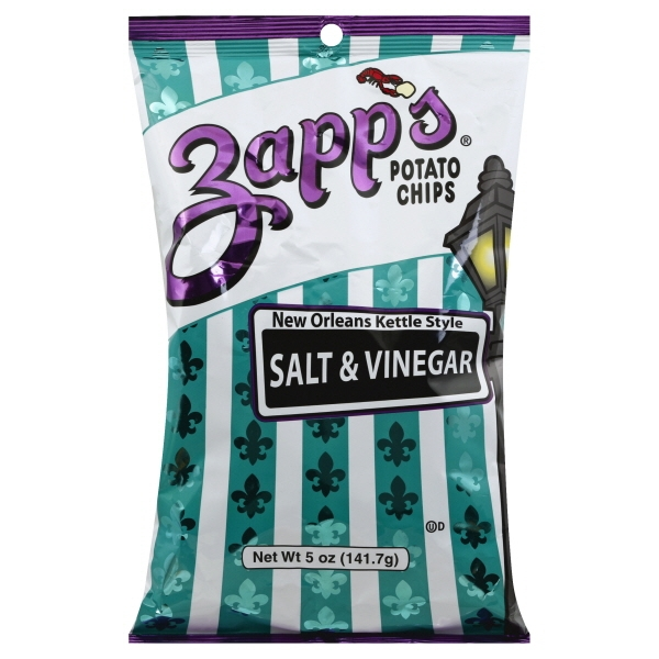 Zapp's New Orleans Kettle Style Salt & Vinegar Potato Chips, 5 Oz.