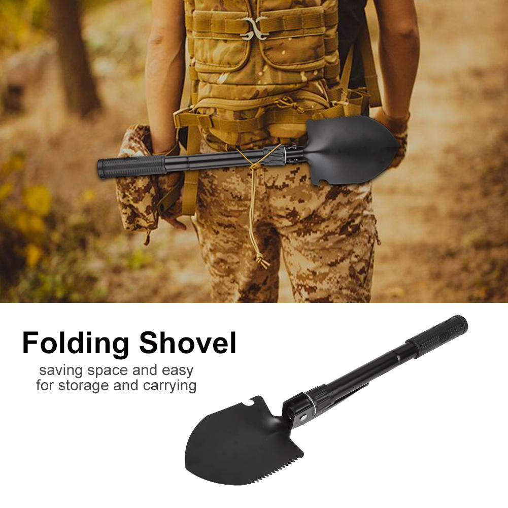 Multi-function Folding Survival Shovel with Compass for Outdoor Camping Hiking Traveling,... by