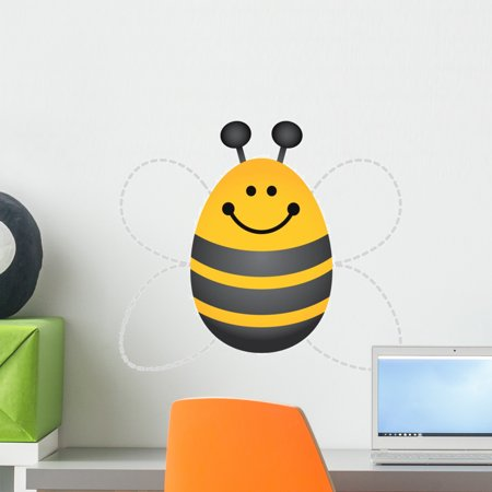 Bee Decals (Bumble Bee Wall Decal by Wallmonkeys Peel and Stick Graphic (18 in H x 11 in W) WM107074)