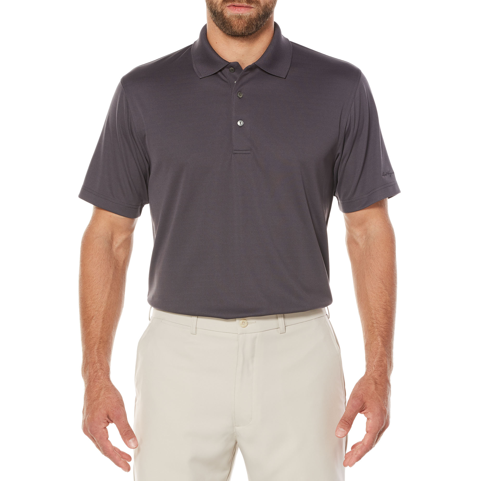 Men's Performance Short Sleeve Solid Golf Polo Shirt, up to size 5XL
