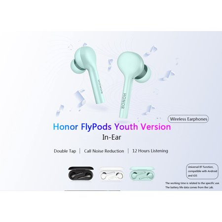 Honor AM-H1C FlyPods Youth Version Wireless Earphone BT4.2 IP54 Waterproof Headphones Double Tap Control Wireless Charging Music Sport Fashion Headset with Microphone for HUAWEI Honor Smart Phones - image 5 de 7