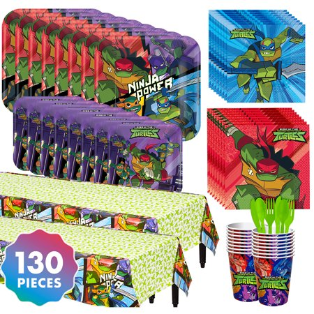 Party City Teenage Mutant Ninja Turtles Tableware Kit for 16 Guests, With Plates - Working At Party City