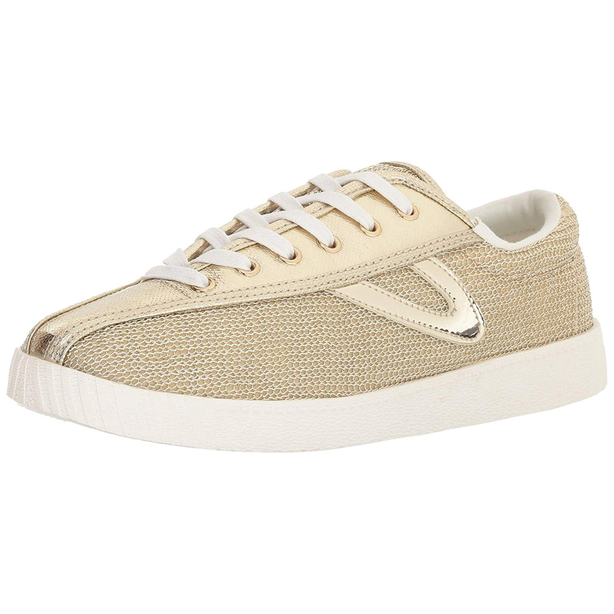 Tretorn Nylite 17 Plus Metallic Mesh Fashion Sneaker 5M Oro Oro Oro