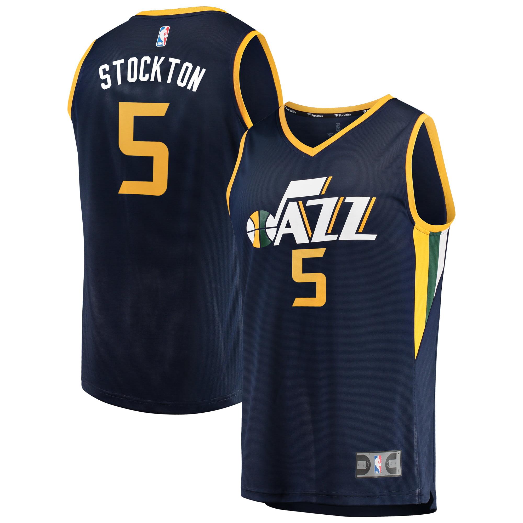 uk availability 2bcf3 fdaee David Stockton Utah Jazz Fanatics Branded Fast Break Player Jersey - Icon  Edition - Navy