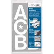 Chartpak, CHA01076, Vinyl Helvetica Style Letters/Numbers, 1 / Pack, White