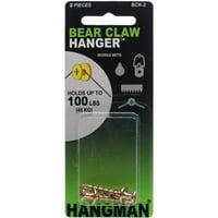 """Double Headed Bearclaw Hanger 1"""" 2/pkg-gold"""