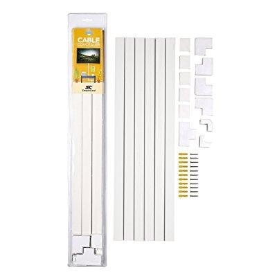 cable concealer on-wall cord cover raceway kit - cable ma...