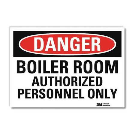 LYLE U3-1138-RD_14X10 Danger Sign,Slf-Adhesv Mount,14inWx10inH G0707677