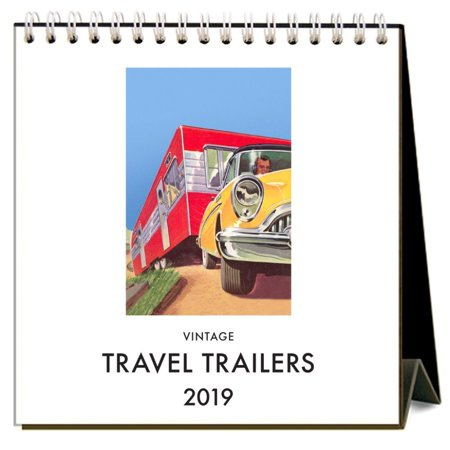 2019 Travel Trailers Easel Calendar,  by Found Image