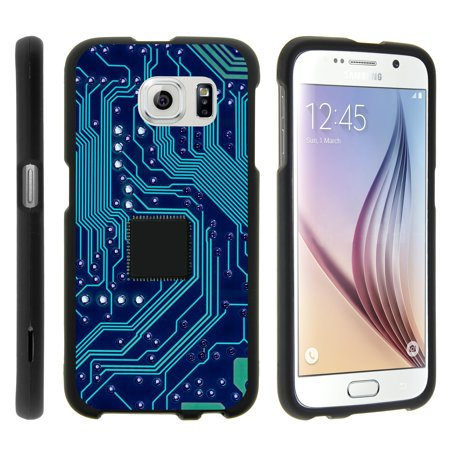 TurtleArmor ® | For Samsung Galaxy S6 G920 [Slim Duo] Two Piece Hard Cover Slim Snap On Case - Phone Circuit Board