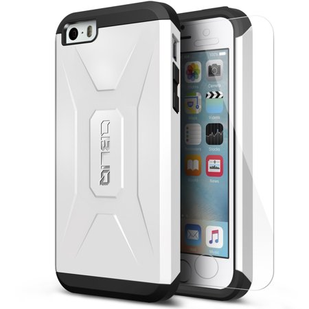 OBLIQ, iPhone 5/5s/SE Case [Xtreme Pro][White] Hybrid Rugged Dual Layered Armor Shock Resistant Protective Cover for Apple iPhone 5, 5S &