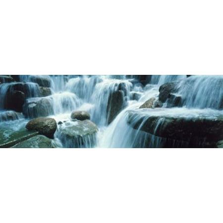 Waterfall Temecula CA USA Canvas Art - Panoramic Images (18 x 6)