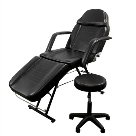 Best Choice Products 71in 3-Section Commercial Massage Bed, Spa and Salon Facial Chair, Tattoo Chair w/ Hydraulic Stool, Removable Headrest, Facial Cradle, Towel Hanger