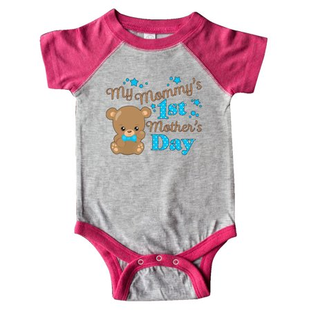 Mommys 1st Mothers Day-cute baby bear Infant Creeper (Babys 1st Bear)