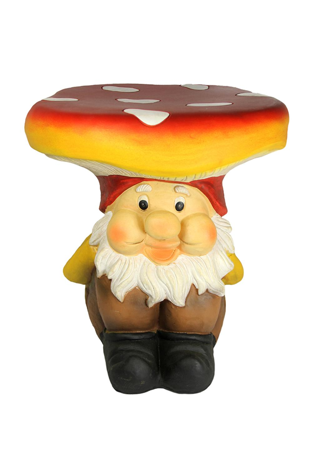 3 Piece Jolly Gnome Table And Chair Novelty Garden