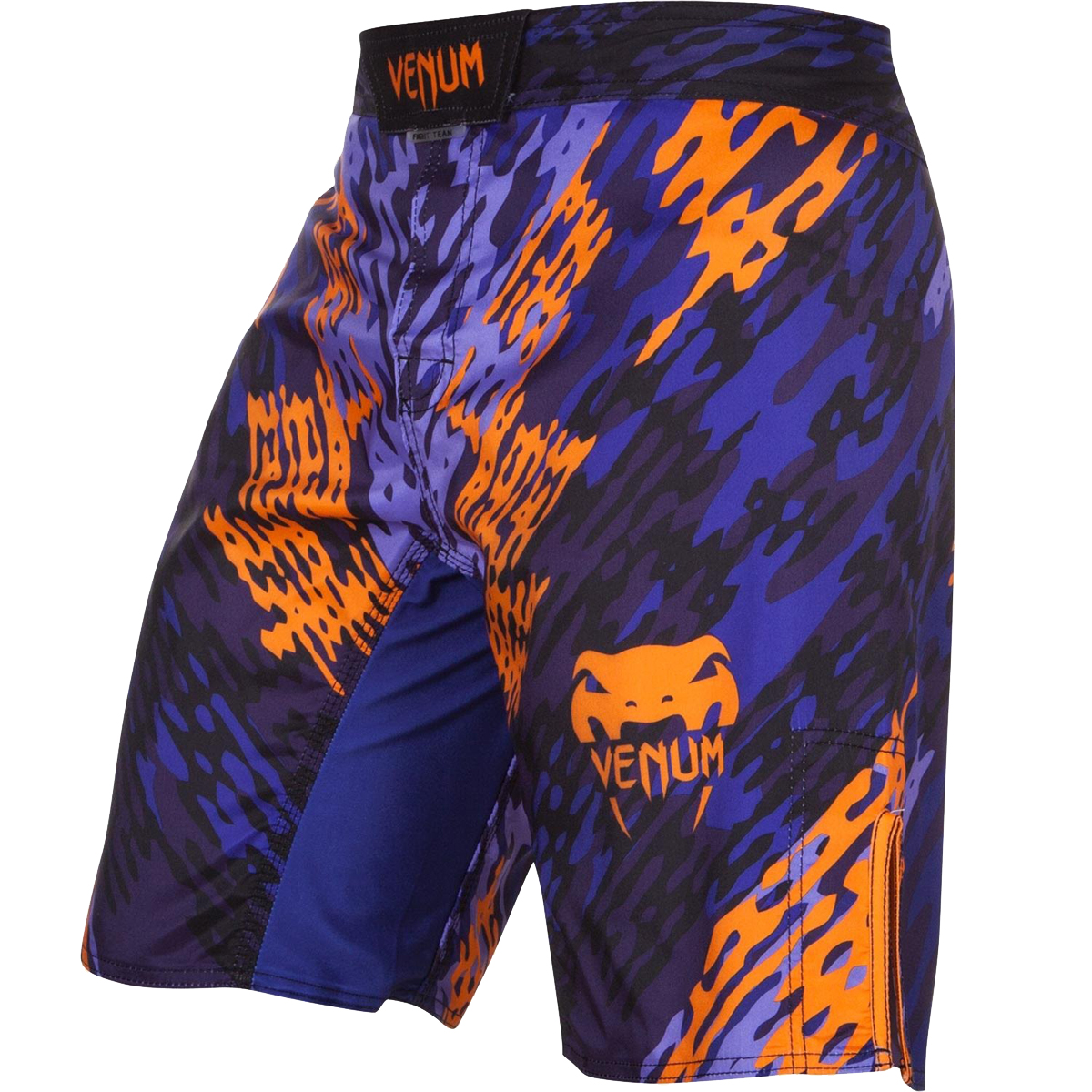 Venum Neo Camo MMA Fight Shorts - Blue/Orange/Black