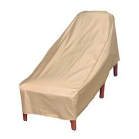 "Modern Leisure Basics Outdoor Patio Chaise Lounge Cover, 27"" W x 76"" D x 30"" H, Beige, Model 7648A"