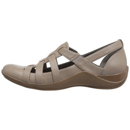 Lifestride Womens Maintain Closed Toe Slide Flats