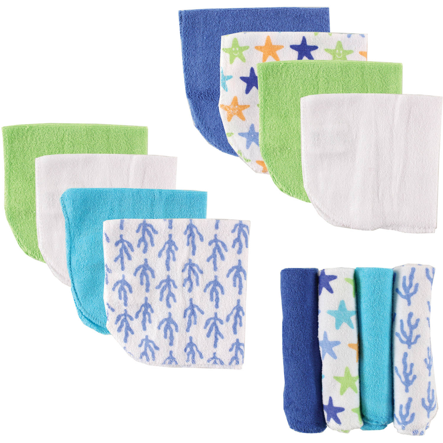 Luvable Friends Washcloths, 12pk, Choose Your Color
