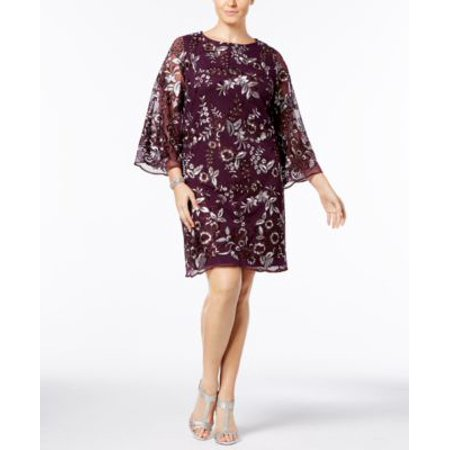 Charter Club Plus Size Embroidered Mesh Shift Dress 1X