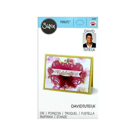 Sizzix DTutera Thinlits Die Floral Label 2