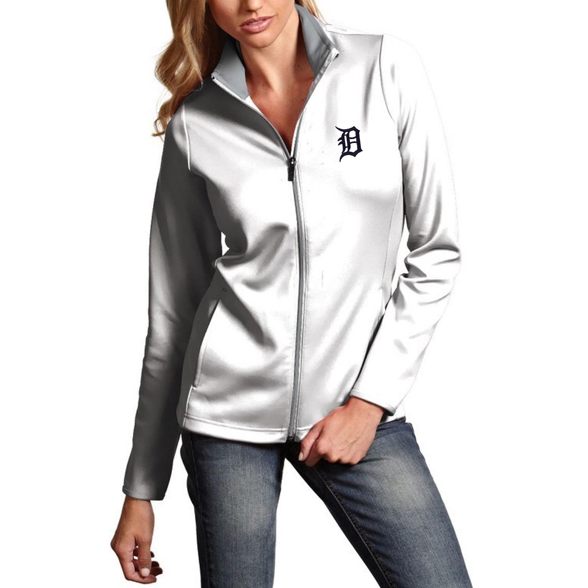 Detroit Tigers Antigua Women's Leader Full-Zip Jacket - White