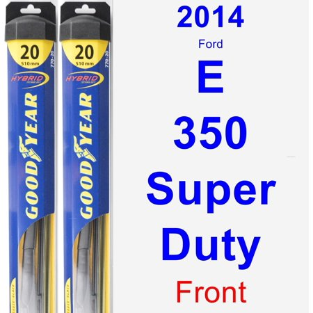 2014 Ford E-350 Super Duty Wiper Blade Set/Kit (Front) (2 Blades) - Hybrid Duty Airlaid 1/4 Fold Wipers