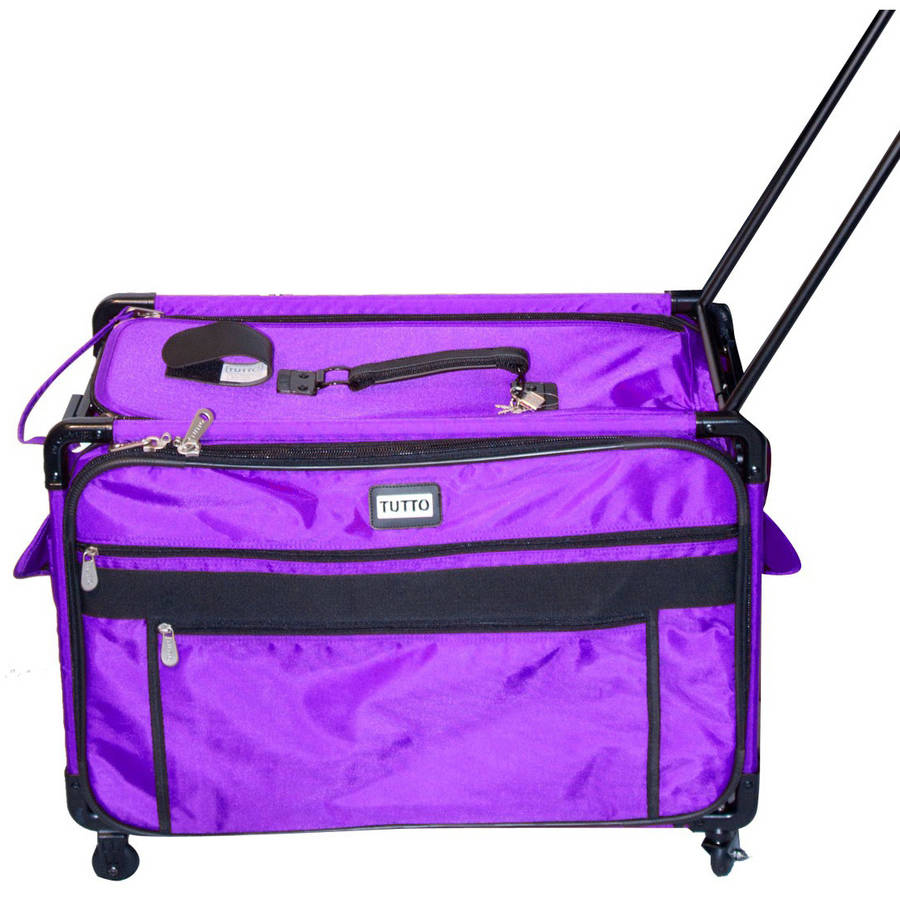 TUTTO Machine on Wheels 1XL Nylon Tote Bag, Purple